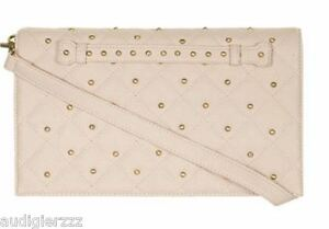 Dorothy-Perkins-KK-Kardashian-Kollection-quilted-beige-studded-clutch