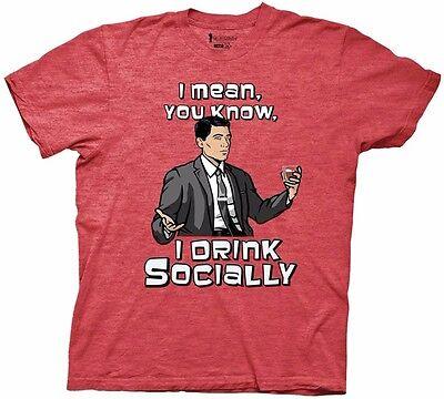 Archer Social Drinker Licensed Adult Shirt S-XXL