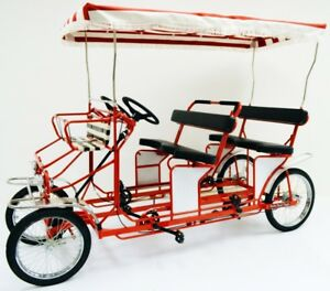 Details about Four Person Surrey Cycle - 4 Wheel Surrey Bike - 4 Person  Bicycle - Quadricycle