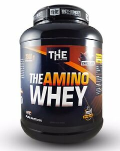 THE-AMINO-WHEY-2300g-21-70-kg-Eiweiss-Shake-fuer-Masse-amp-Muskelaufbau-Protein