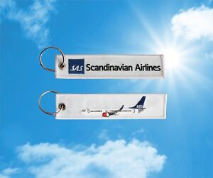 Details About Sas Scandinavian Airlines Boeing 737 Keychain Keyring Baggage Luggage Bag Tag
