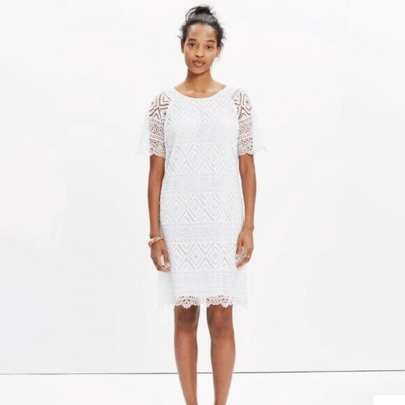MADEWELL White Lace Lyric Dress
