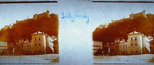 Stereoscopique-photographie-Autriche-Salzbourg-une-place-vers-1904-Salzburg