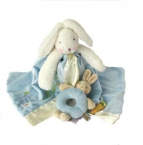 Gift-for-Baby-Boy-Bunnies-By-the-Bay-Comforter-amp-Rattle-Baby-Shower-Gift-Box