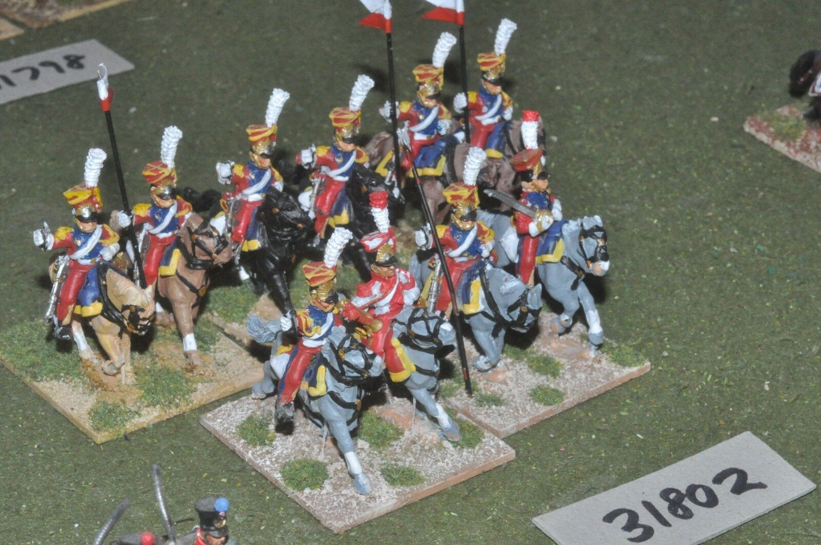 25mm napoleonic   french - guard dutch lancers 10 figures - cav (31802)