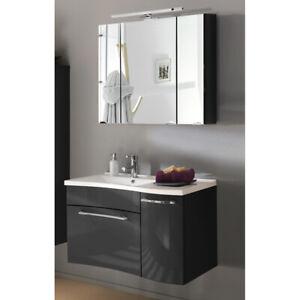 Badmobel Badezimmer Set 90cm Waschtisch Unterschrank Led Spiegelschrank Gaste Wc Ebay