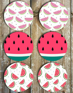Watermelon-Drink-Coasters-Set-of-6-Non-Slip-Neoprene-Coasters-Summer-Gift-Ideas