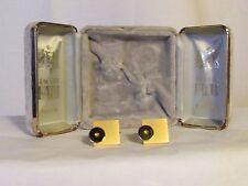 boutons de manchette vintage JACQUES FATH métal brossé doré et métal doré