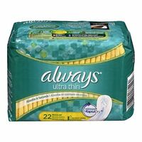 Always Ultra Thin Pads Regular 22 Each Pack of 12 on Sale