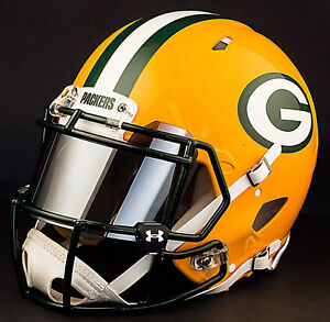 6d151419994 CUSTOM    GREEN BAY PACKERS Full Size NFL Riddell SPEED Football ...