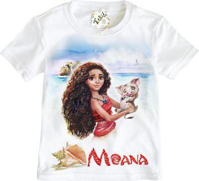 Vaiana Moana Disney Polynesian Princess girl/'s t-shirt by Takila