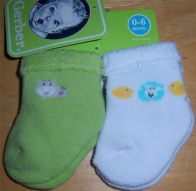 Car Baby Shower 0-6 Months New Gerber Bootie Socks