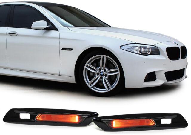 Klarglas LED Seitenblinker schwarz smoke für BMW 5er F10 F11 ab 10