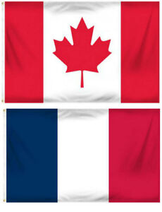 2x3 2 x3 wholesale combo france french canada canadian flag