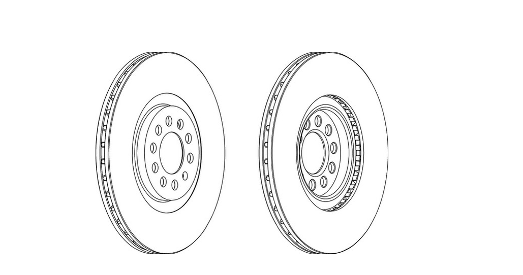 12 Month Warranty! DDF1118C 2x Brand New Ferodo Front Brake Disc