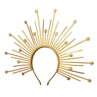 Silver stars halo bridal headband
