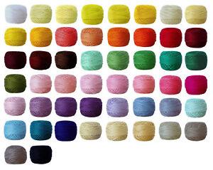 VENUS-Embroidery-Perle-8-82m-100-Mercerised-amp-Gassed-Cotton-Thread