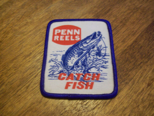 PENN REELS CATCH FISH FISHING LURE PATCH MUSKIE HUNTING