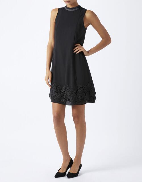 Monsoon Black Dorri Dress, Size 12 - NEW