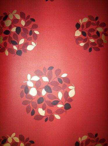 Norwall Wallpaper Prepasted Peelable Scrubbable Brick Red Gold Black 56.4 sq ft