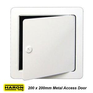 Haron 200 X 200mm White Metal Wall Access Door Trapdoor For