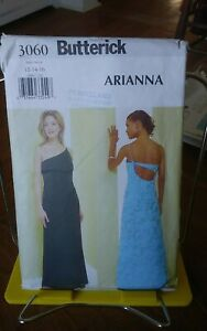 Butterick-Arianna-3060-misses-evening-gown-cutaway-lowcut-back-sexy-sz-12-16-NEW