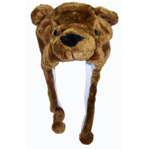 Kid Cartoon Animal Hat Plush Beanie Fleece Warm FLUFFY HOODED Cap Earmuff