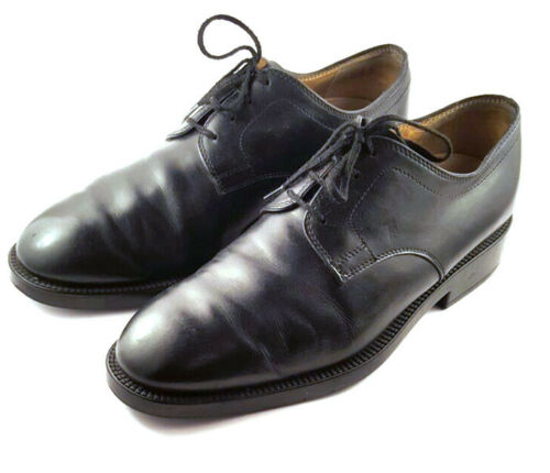TOD's Black Leather Oxfords, Lace Up, Men's shoe S