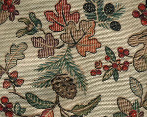 Longaberger-2008-Small-Fruit-Basket-Autumn-Path-Leaf-Leaves-Fabric-Liner-NIP