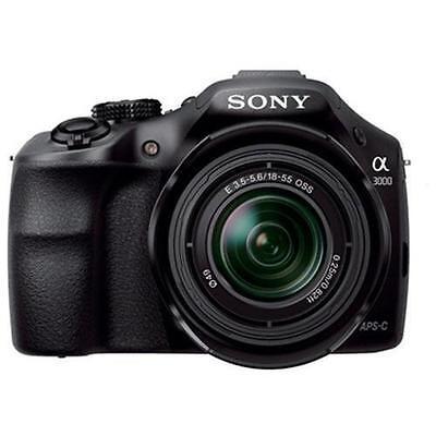 Sony Alpha A3000 Digital Camera with 18-55mm Lens 20.1MP Black USA Model!