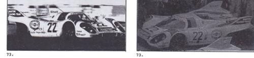 1//25th Scale Waterslide Decals 1971 Porsche 917K Le Mans #22 Martini 1//24th
