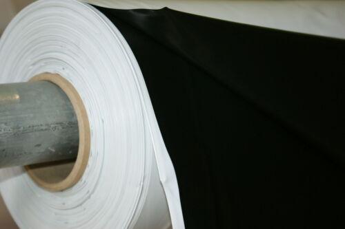 0,45€//m² Breite 4,6,8,10,12 Meter schwarz//weiss Silofolie Abdeckplane Baufolie