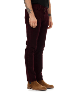7a5f546a134d0a Levi's® 511 Warp Stretch Slim Fit Mens Cords - Mulled Wine | eBay