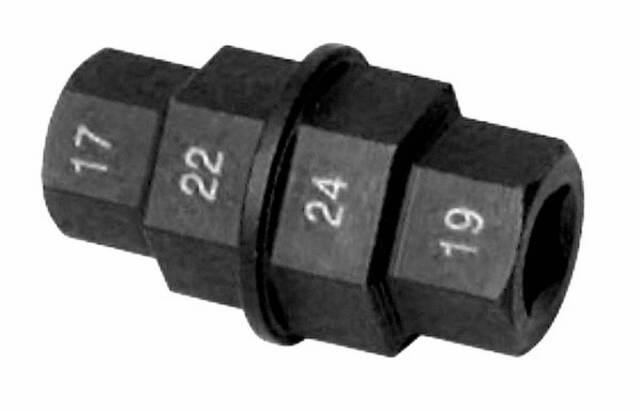 19596 BUZZETTI Herramienta 4 hexágonos para desmontar eje de rueda 17-19-22-24mm