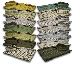Mens-Long-Sleeve-Quality-Country-Classics-Check-Shirts-Hunting-Fishing-S-5XL