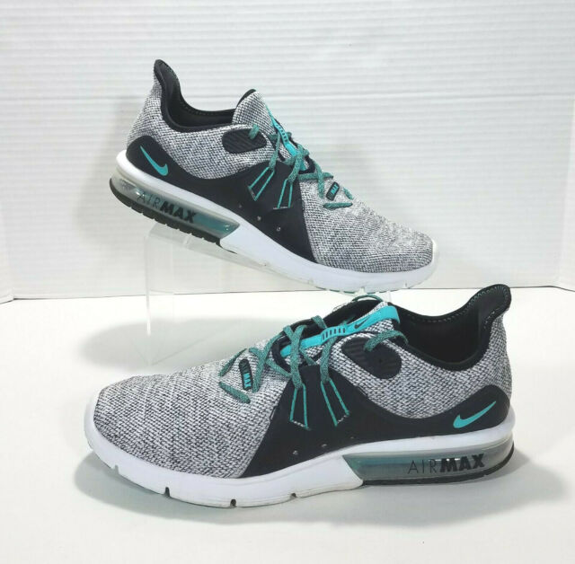 35f4c1afca06c Nike Air Max Sequent 3 Running Shoes Mens 12 White Black Hyper Jade  921694-100