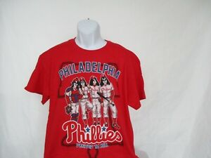 ab65765c Philadelphia Phillies MLB & Kiss Dressed To Kill T-Shirt Adult Red ...