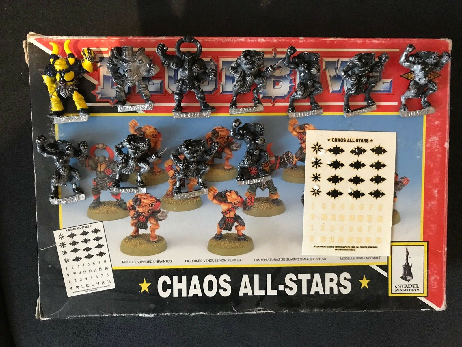 Blood Blood Blood Bowl - Chaos All-Stars- Chaos Team Complete - Games Workshop 575574