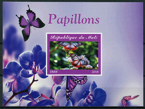 Mali-2018-MNH-Butterflies-1v-IMPF-M-S-Papillons-Butterfly-Stamps