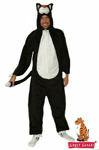 Adult-Cat-Black-Costume-Animal-Fancy-Dress-up-Costume-Party-Kitten-Pussy