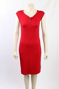 NEW Ralph Lauren -Size M- Red Stretch Fitted Dress-RRP:$159.00