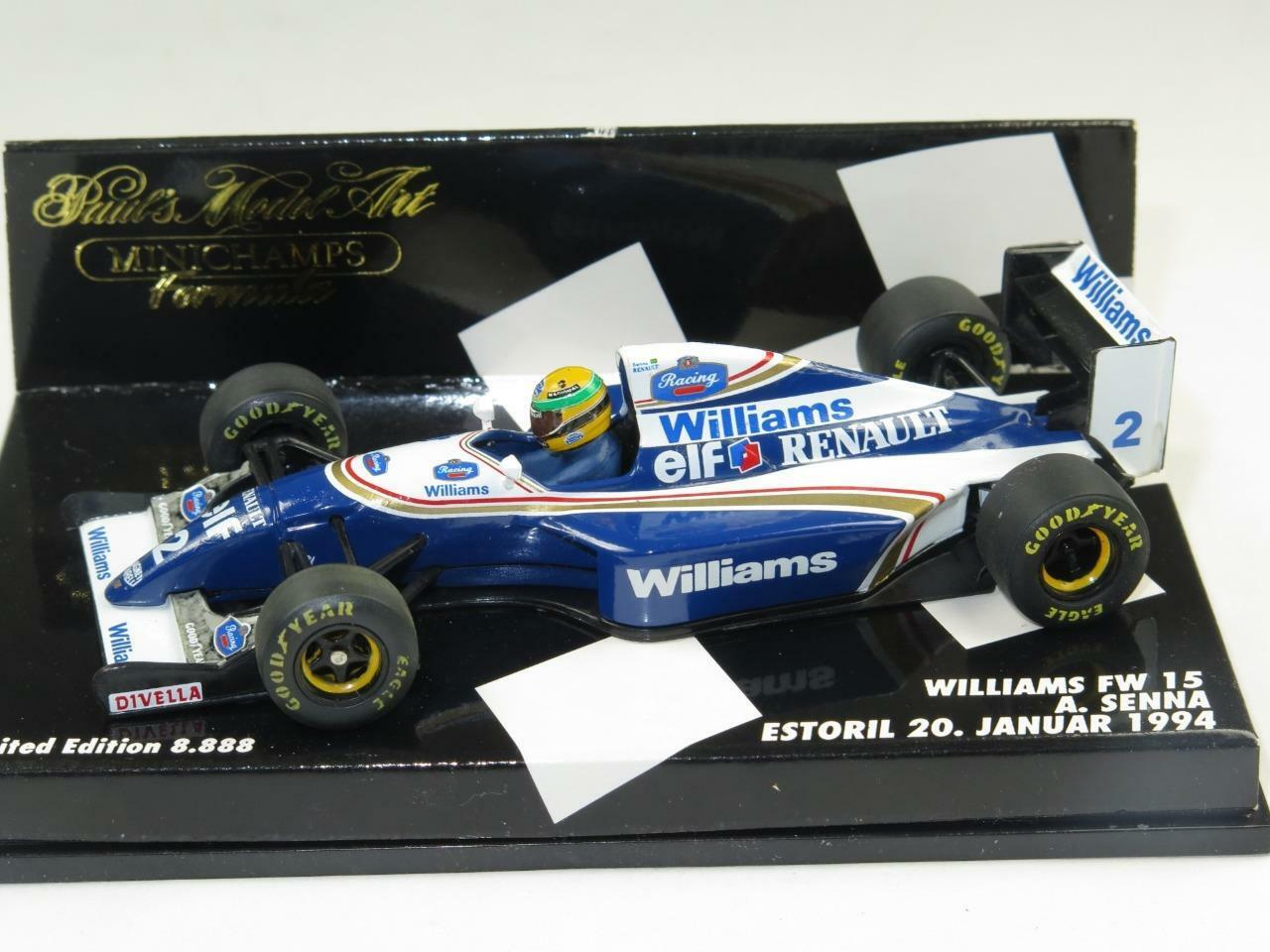 MINICHAMPS 1 43 voiture F1 Williams FW15 Ayrton Senna Estoril Test 1994 Comme neuf Ltd Ed