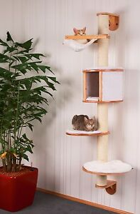 wand kratzbaum 168cm dolomit aus holz kissen h ngematte ebay. Black Bedroom Furniture Sets. Home Design Ideas
