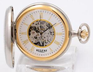 Regent-Bicolor-Skelett-Taschenuhr-mit-Kette-UVP-198-00-EUR