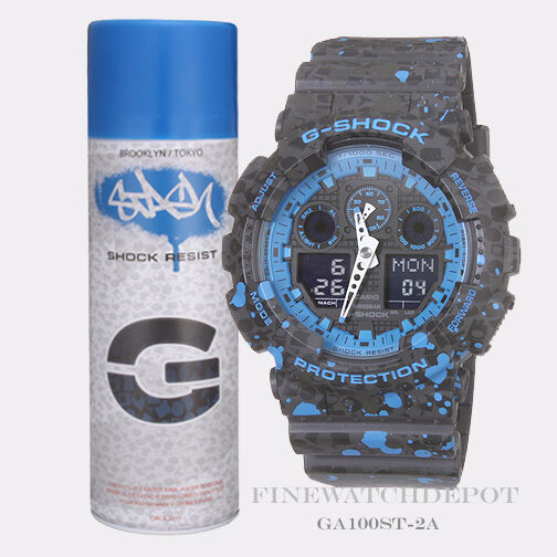 With Tags Casio Gshock Stash Limited Edition Ga100st 2a Black Blue Watch For Sale Online Ebay