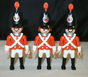 Playmobil-7675-Lot-of-3-Redcoat-English-Soldiers