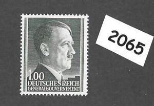 #2065     MNH 1944 stamp 1ZL / Adolph Hitler /  Occupied Poland / Third Reich