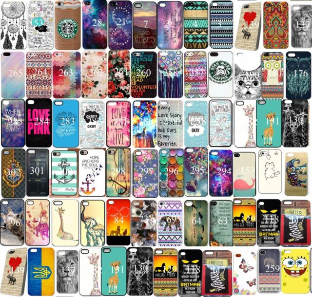 New Various Pattern Skin Hard Back Case Cover For Iphone 5 5S 5C 4 4S 6 6 Plus