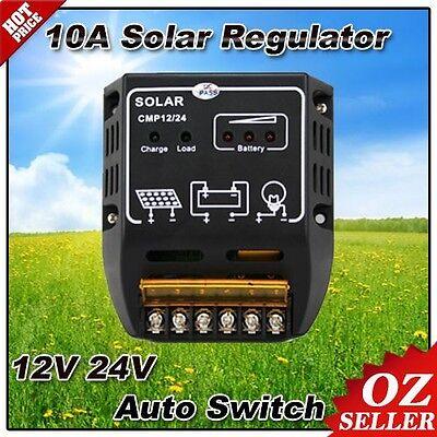 OZ Auto Swich 10A 12V 24V Solar Regulator Panel Charger Battery Controller Light