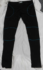 JS2 Women's Black w/Blue 4 Way Stretch Skinny Fit Leggings Size XXXL $79.99!